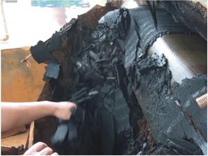 洗煤厂尾泥脱水后滤饼